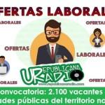 Convocatoria: 2.100 vacantes en entidades públicas del territorio nacional