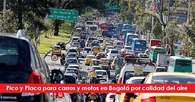 Pico y Placa para carros y motos en Bogotá por calidad del aire En-Bogotá-circulan-cerca-de-un-millón-de-carros-particulares-foto-vía-El-Tiempo