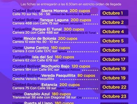 Cronograma de esterilización y vacunación gratuita para perros y gatos en Bogotá
