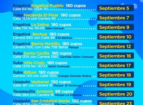 Cronograma mensual de esterilización y vacunación gratuita para perros y gatos en Bogotá