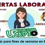 Trabajo para fines de semana en Bogotá - octubre 2019