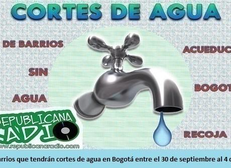Lista de barrios que tendrán cortes de agua en Bogotá entre el 30 de septiembre al 4 de octubre - radio-universitaria-somos-URepublicanaRadio-Radio-Universitaria