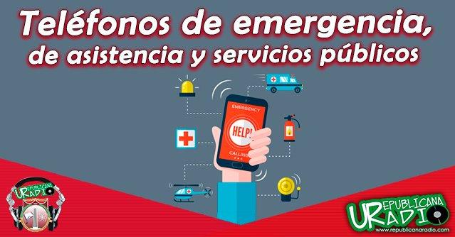 Teléfonos de emergencia, de asistencia y servicios públicos en Colombia radio universitaria urepublicanaradio corporación universitaria republicana