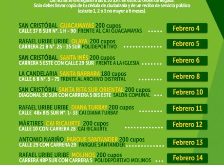 CRONOGRAMA-ZONA-CENTRO-ORIENTE-2020-FEBRERO
