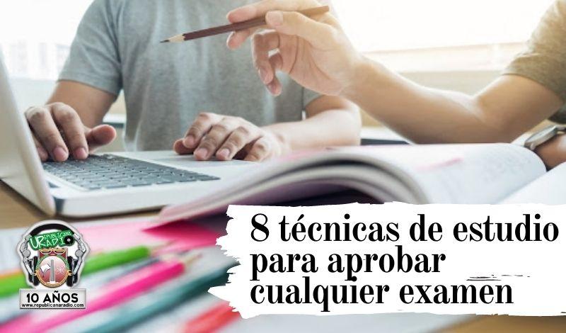 ¡Atención estudiantes! 8 técnicas de estudio para aprobar cualquier examen